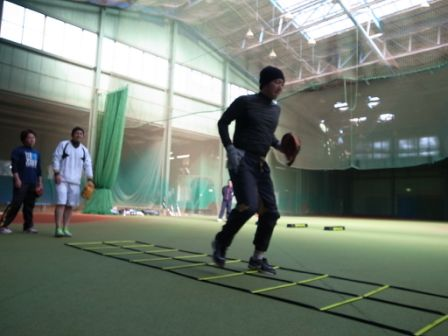 2013SPARQトレーニング 栗山選手/上本選手/永江選手