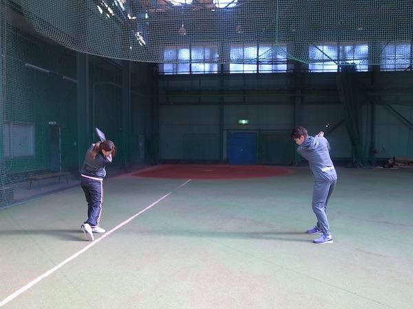 2014オフトレーニング 諸藤プロ/井上プロ