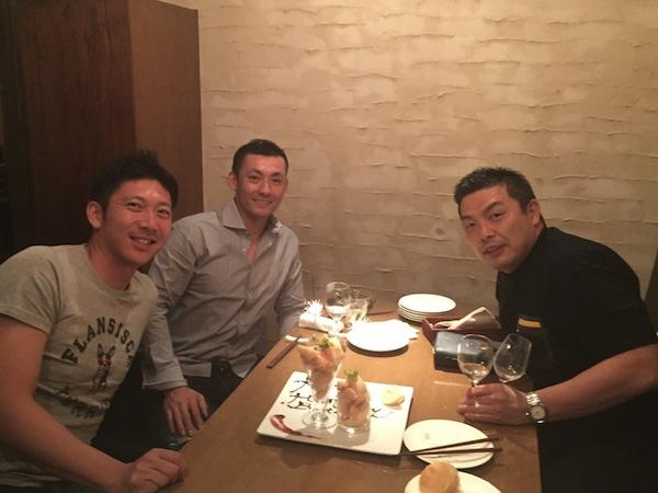 誕生日当日は 栗山選手と上本選手と