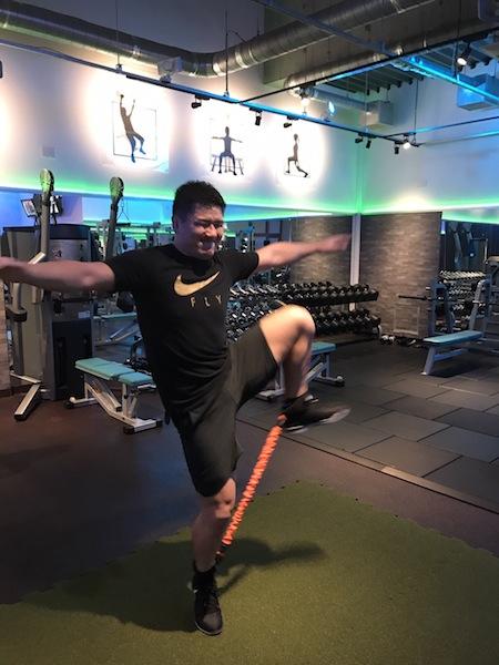 西原選手 パワーバンド トレーニング