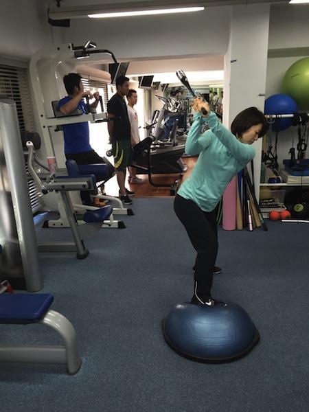 井上プロ ゴルフバランス トレーニング
