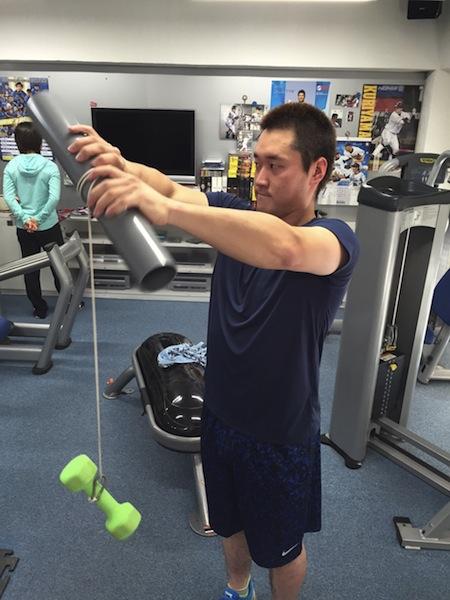 リスト トレーニング永江選手