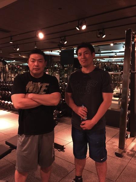 土橋とGYMにて、トレーニング