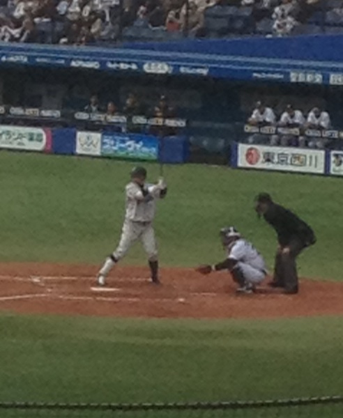 栗山選手 対千葉ロッテ@QVCマリン
