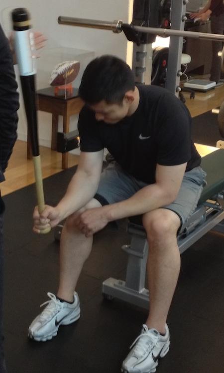 栗山選手トレーニング