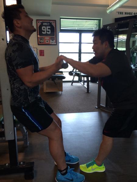 西原選手 マニュアル レジスタンス トレーニング