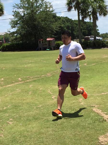 西原 忠佑選手トレーニング