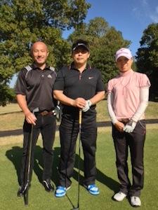 早速井上プロと私と丸山コーチ(森田あゆみ選手の専属コーチ)と気分転換ゴルフ行って来ました!