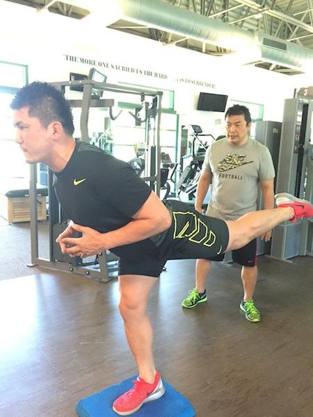 西原選手トレーニング