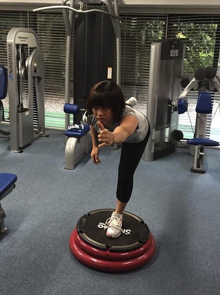 森田あゆみ選手トレーニング