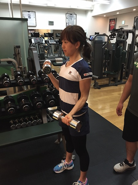 今西美晴選手トレーニング@スロースタイル gym