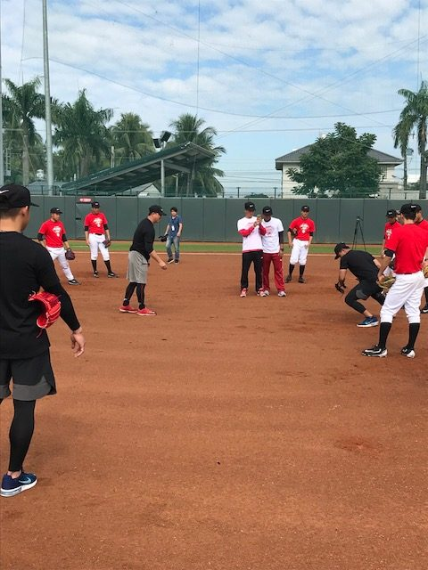 ナイキALL Taiwan baseball campの様子